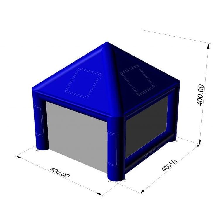 gazebo gonfiabile 4x4x
