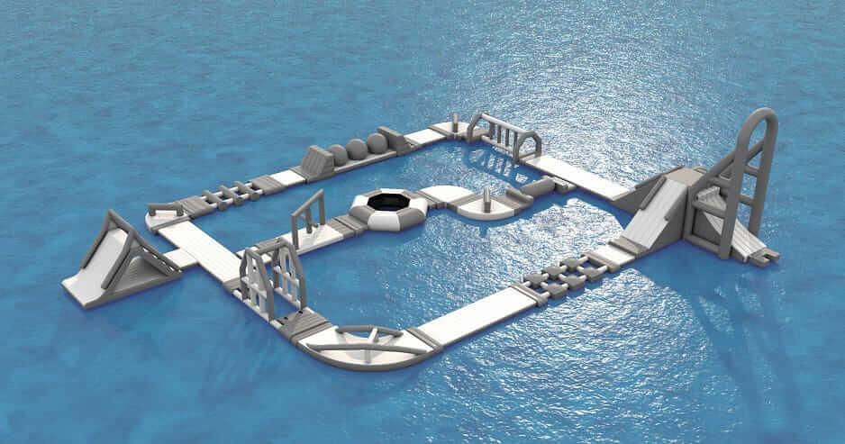 parco giochi gonfiabile acquatico