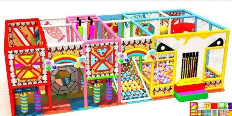 Playground per interni candy land