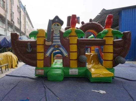 combo nave pirata gonfiabile