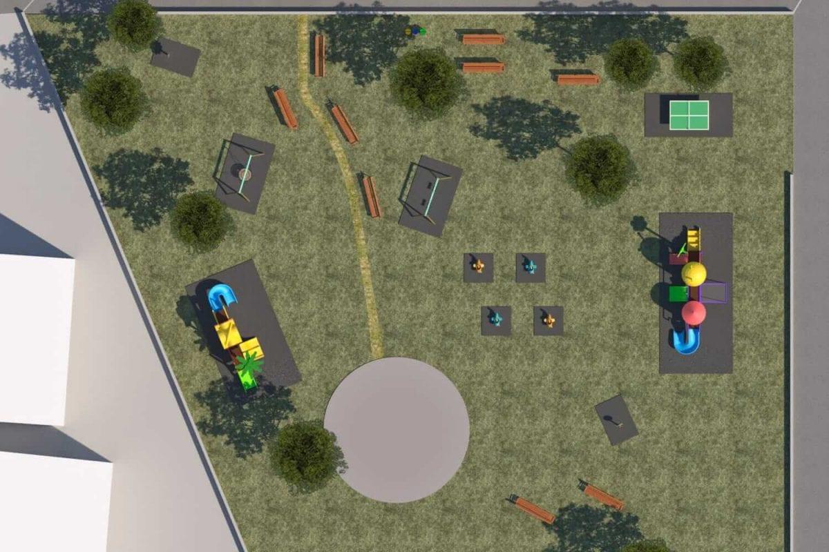 creazione parco giochi da esterno