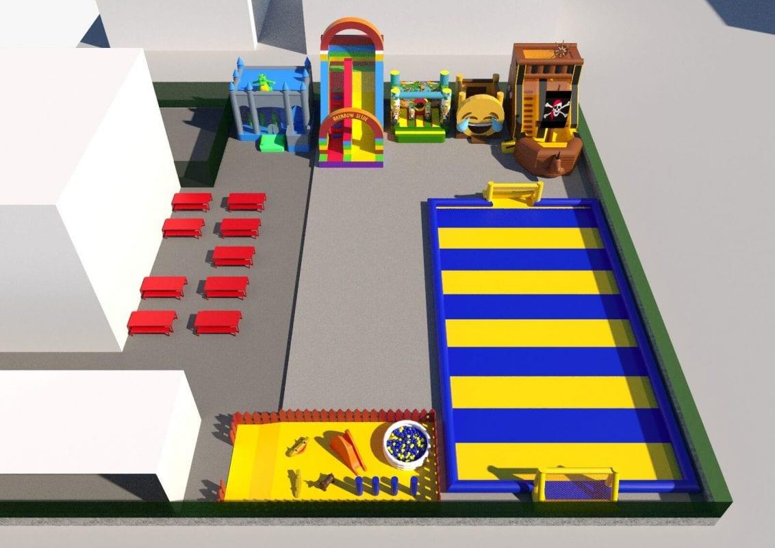progettazione parco giochi gonfiabili