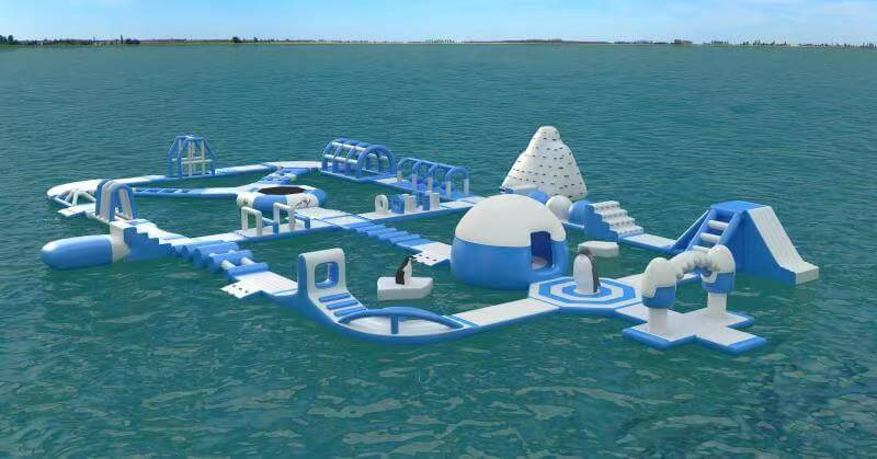 parco acquatico gonfiabile ice villagge