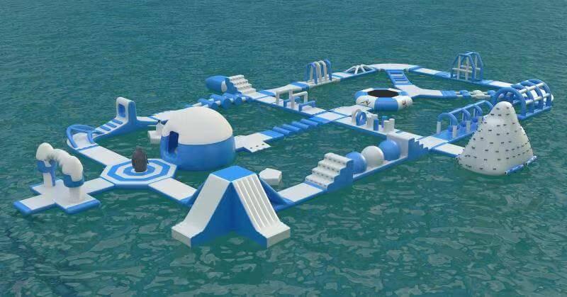 parco gonfiabile acquatico- ice villagge