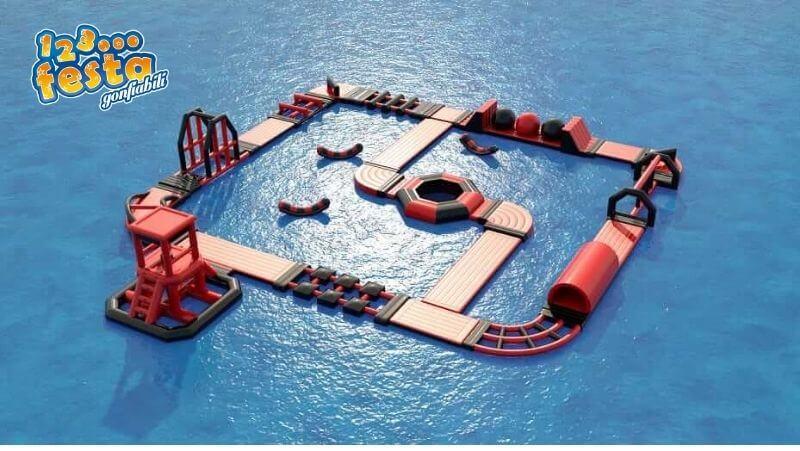 giochi gonfiabili in mare galleggianti